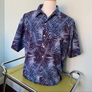Van Heusen Tropical casual Dress Shirt Palm XLT